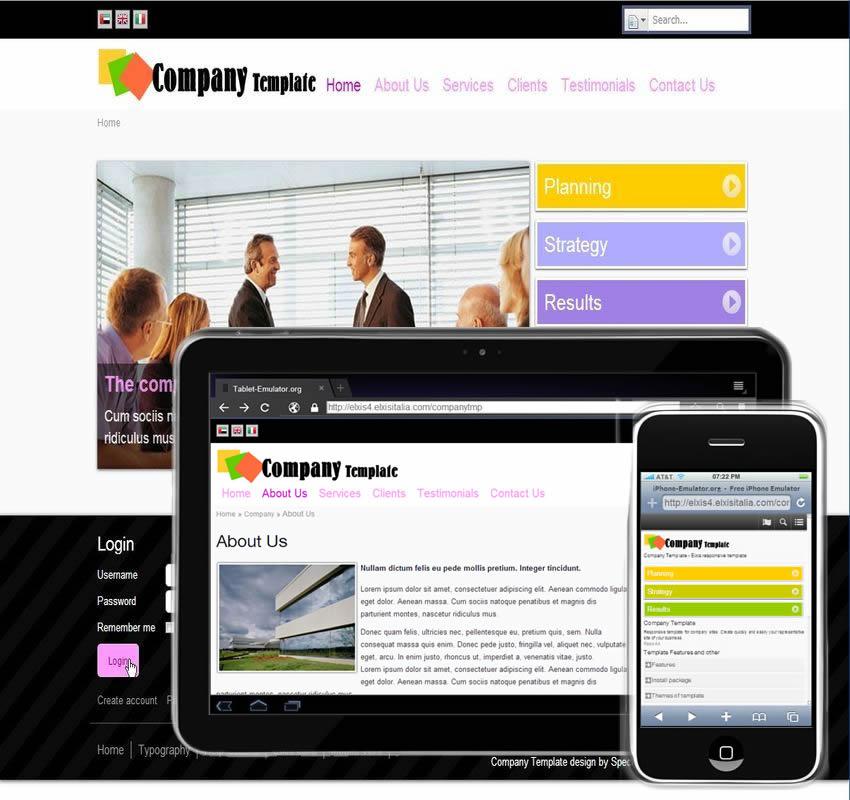 Company Template - Elxis template sensitivo per attività lavorative e aziende