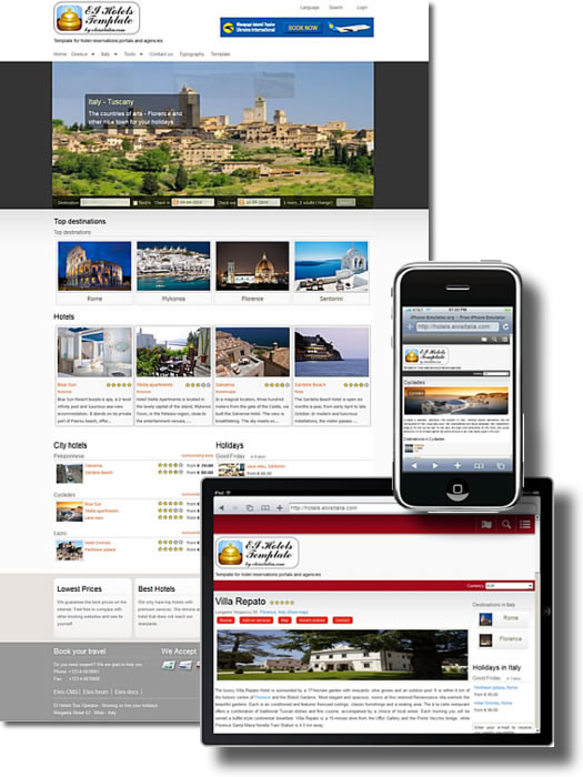 EI Hotels Template - Template per IOSR Reservations e Hotels
