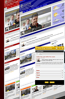 EI News Blog Template Elxis Template For Magazine Portals And Blogs - E news template