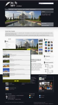 Simply Blog template - Elxis Template per blog personali
